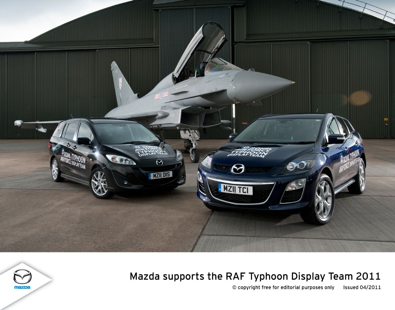 Alert Mazda Supports The RAF Typhoon Display Team - Mazda military