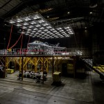 Climatic Testing; Solar Array hoist, set up and lighting test over BF-05.