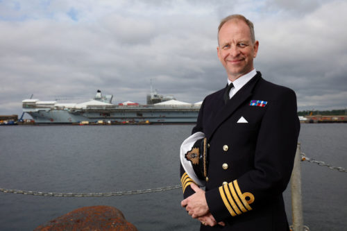 FIRST SEA CAPTAIN JOINS ROYAL NAVY'S NEWEST AIRCRAFT CARRIER