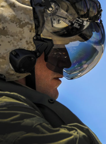 A Marine F-35B pilot, assigned to the 3rd Marine Aircraft Wing, Marine Corps Air Station Yuma, Az., prepares to take off during Red Flag 16-3 at Nellis Air Force Base, Nev., July 12, 2016. Red Flag provides combat training in a degraded and operationally limited environment making the training mission as realistic as possible. (U.S. Air Force photo by Airman 1st Class Kevin Tanenbaum)
