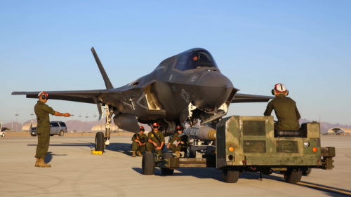 Proof of concept: First hot load of GBU-32 on F-35B