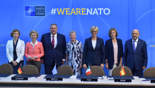 Signing ceremony: Maritime multi mission aircraft - Meetings of NATO Defence Ministers