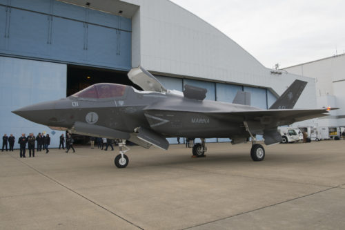 First Italian F-35B arrives at NAS Pax River